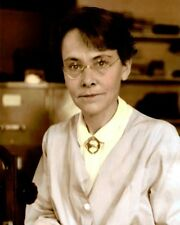 "BARBARA McCLINTOCK PHD AMERICAN SCIENTIST 8x10"" HAND COLOR TINTED PHOTOGRAPH"