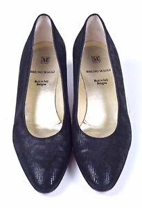 Bruno-Magli-Leather-Basketweave-Black-Pumps-Womens-Shoes-8-5