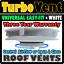 4x4-Veicolo-Van-Vento-guidato-basso-profilo-ARIA-rotativo-Tetto-Vent-Bianco-Land-Rover miniatura 1