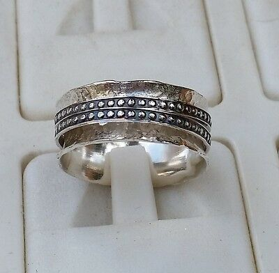 Silver Spinner Ring ,Stackable Silver Ring ,Spinners Wedding Band Handmade Ring