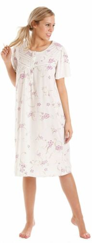 Ladies Floral Nightie Nightdress Large Plus Blue Lilac Pink S M L XL 3XL 4XL 5XL