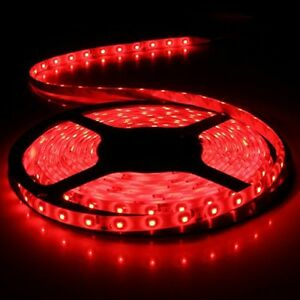 LED-Strip-Light-5M-Flexible-300LEDs-Red-DC12V-Waterproof-For-Boat-Car-Suv