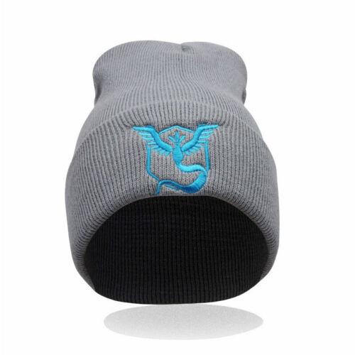 Pokemon Go Beanie Hat Team Mystic InstInct Valor Embroider Cap Cosplay Hat New