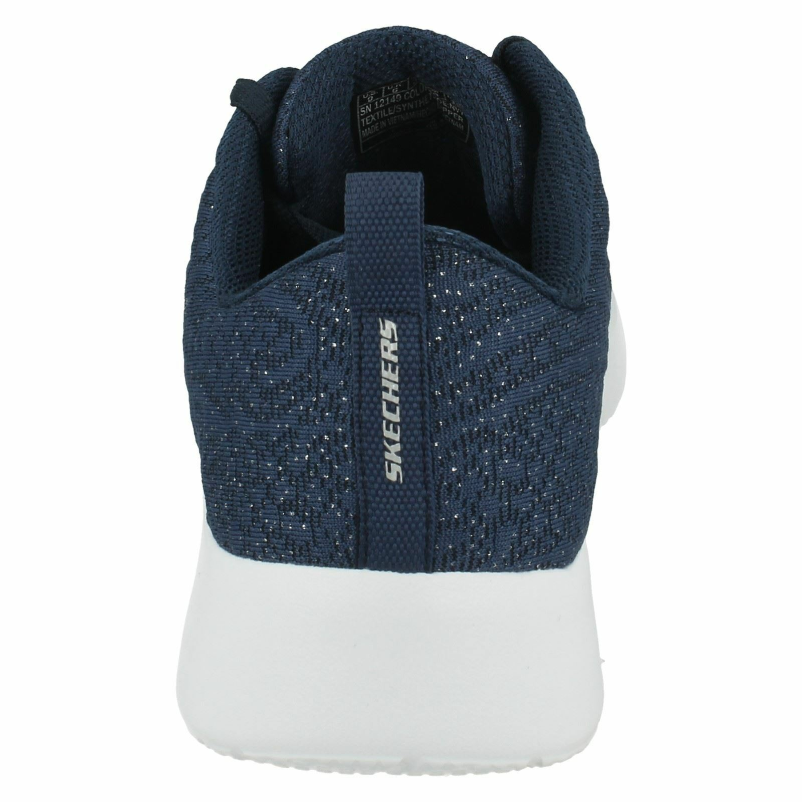 LADIES SKECHERS LACE TRAINERS UP MEMORY FOAM CASUAL TRAINERS LACE DYNAMIGHT BLISSFUL 12149 e45022