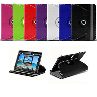 "360 Rotary Crystal PU Leather Case Stand Cover For 9.6"" 9.7"" 10.1"" Tablet Tab"