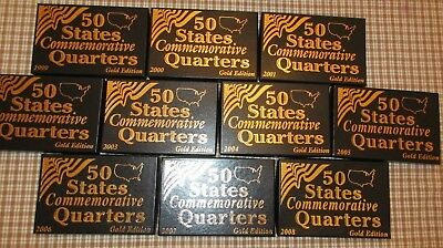 1999 - 2008 STATE QUARTER P MINT - GOLD PLATED COMPLETE SET OF 50 COINS-B