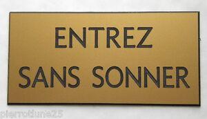 """Plaque Gravée """"entrez Sans Sonner"""" (2 Versions) Format 98 X 200 Mm Q6xwmjyv-07232250-778786168"""
