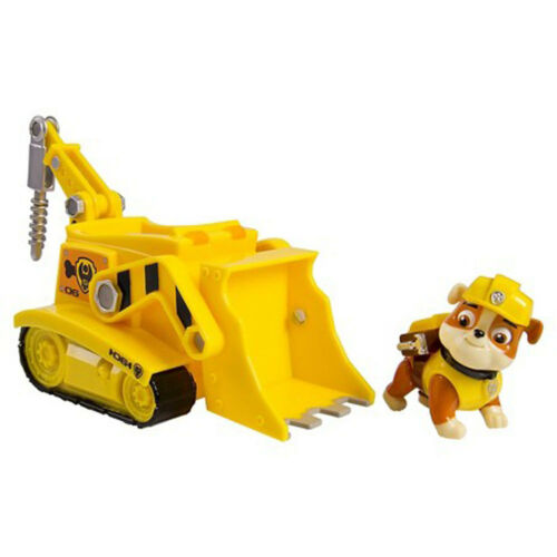 Paw Patrol Rubble/'s Digg/'n Bulldozer Vehicle w Pup Case and Figure Toy Gift Set