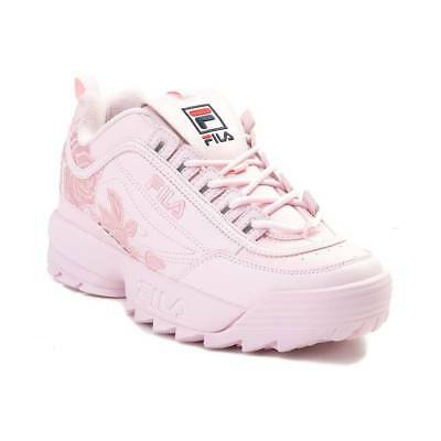 Damen Fila Disruptor II Rose Athletic Schuhe Rosa Neu Geblümt Bestickt 2 |  eBay