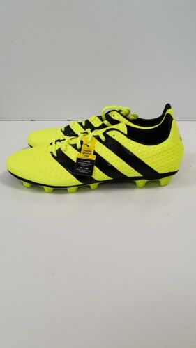 J376 para hombre Adidas ACE 16.4 FxG Amarillo Negro Con Cordones Botas De Fútbol UK 11 EU 46