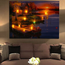 Peacock light up led canvas wall art picture home office hanging item 1 led lighted lake cabin sunset boat canvas wall art light up picture home decor led lighted lake cabin sunset boat canvas wall art light up picture aloadofball Image collections