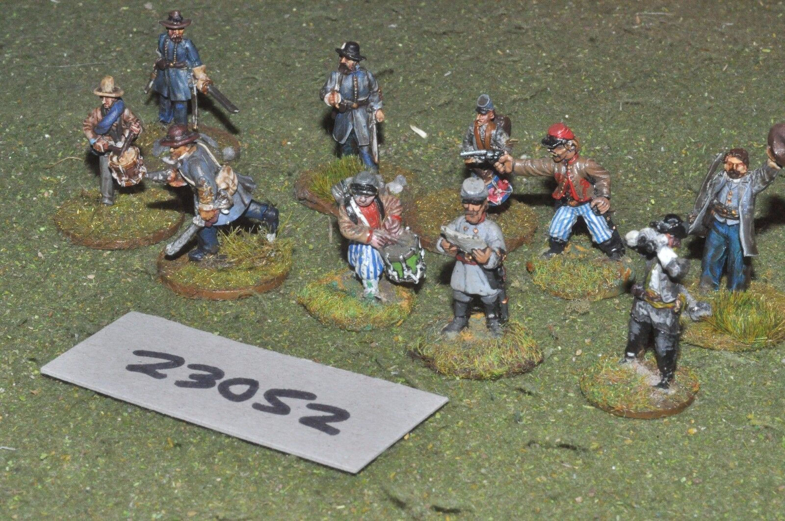 25mm ACW   confederate - markers 10 figures - inf (23052)