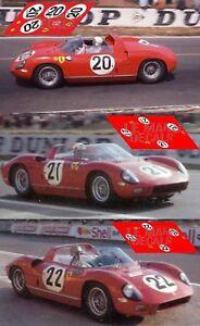 Calcas Ferrari 275 P Le Mans 1964 20 1:32 1:43 1:24 1:18 275p Slot Decals