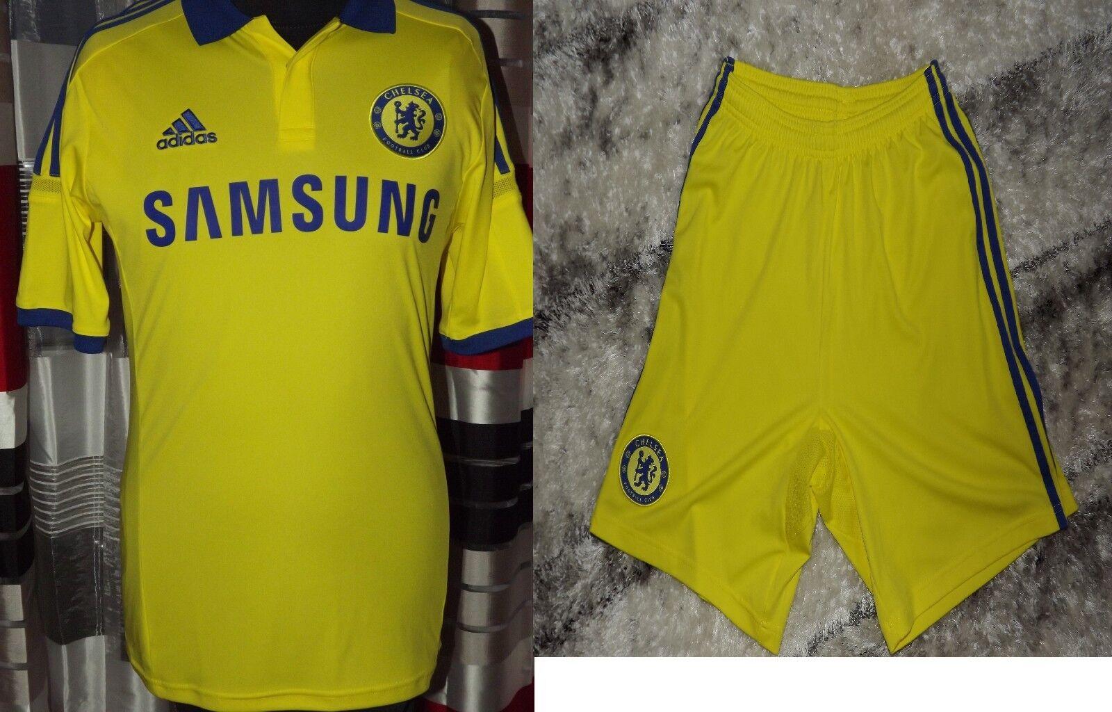 201415 Chelsea Away Shirt & Pantaloncini KIT excelente, Menta ADIDAS S Maglia Jersey