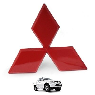 Fits Mitsubishi L200 Triton Pickup 2005 2008 12 Red Front Logo Emblem Trim