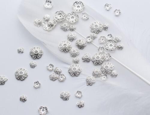 925 Sterling Silber Perlkappen Kappen Metallkappen DIY A2251 Perlenkappen