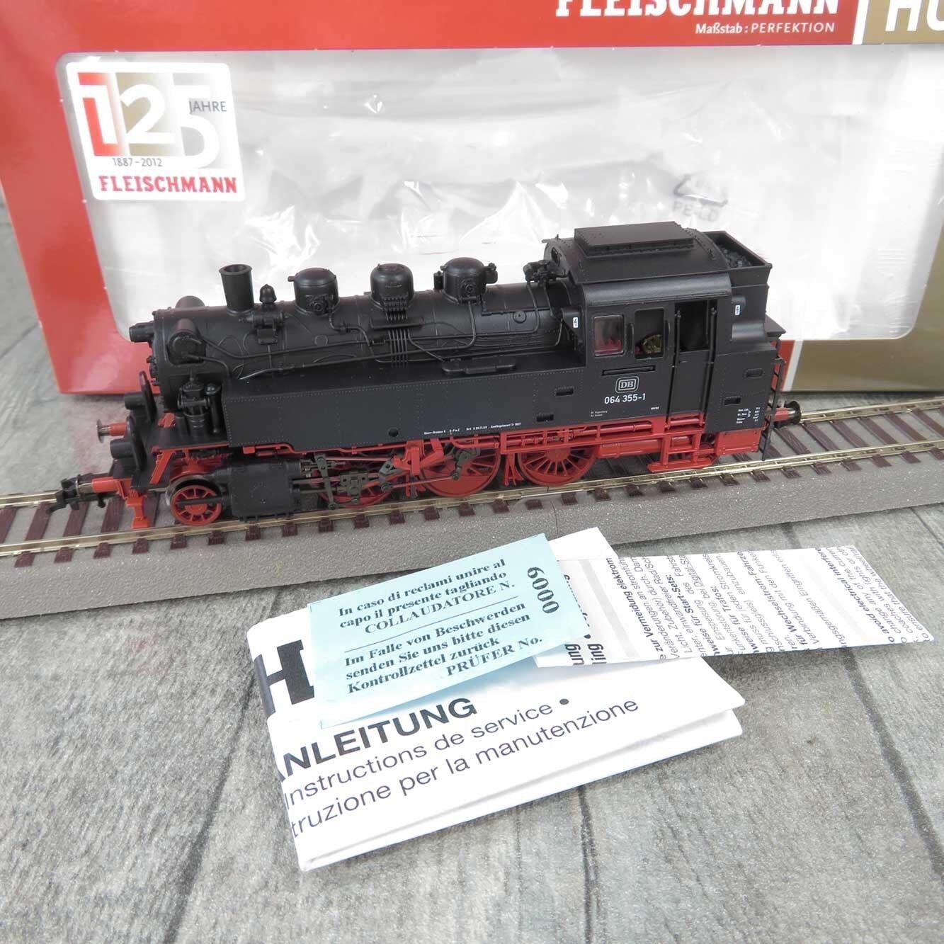 FLEISCHuomoN 406101  HO  DB  Dampflokomotive 064 3551 mit DSS  OVP   A27116