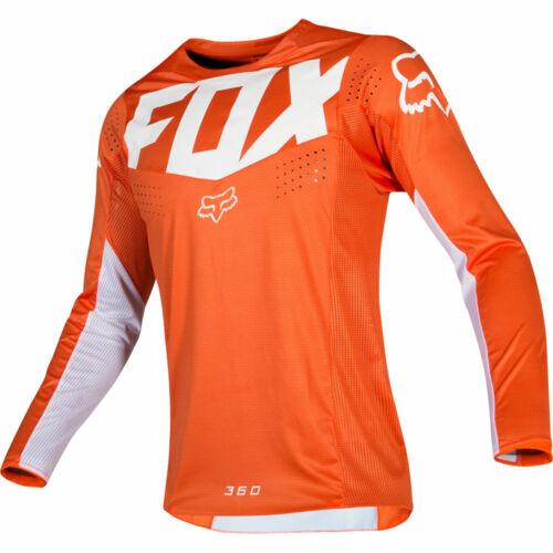 Fox Racing 360 Kila fahrerhemd Orange Blanc Motocross Jersey