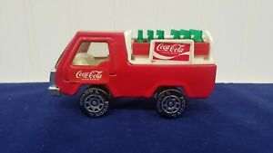 Vintage-Buddy-L-Coca-Cola-Pressed-Steel-Delivery-Truck-1982-w-Coke-Bottles
