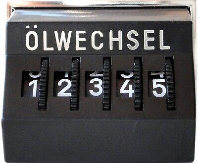 Original 1971 Kilometerzähler Kilometermerker Kilometer Zähler Ölwechsel Merker