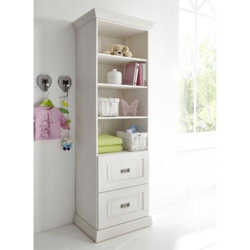 Regal Odette Standregal Bücherregal in Kiefer weiß massiv Babyzimmermöbel