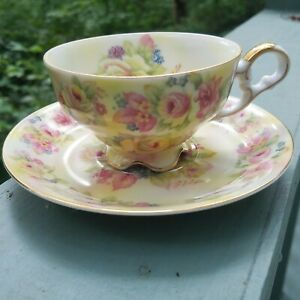 SIGNED-HAND-PAINTED-LEFTON-TEA-CUP-AND-SAUCER