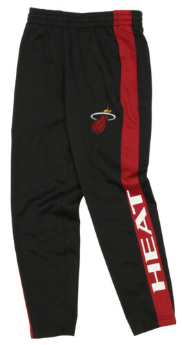 Miami Heat OuterStuff NBA Youth Boys Side Stripe Slim Fit Performance Pant