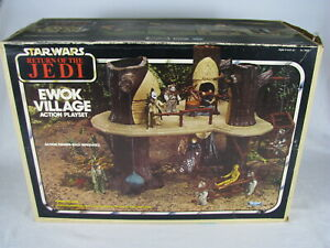 Vintage Rare Complete 1983 Kenner Star Wars Ewok Village Action Playset with Box