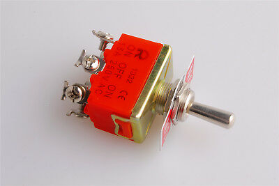 5Pcs DPDT AC 250V 15A Amps Toggle Switch 3 Position ON//OFF//ON US Shipping