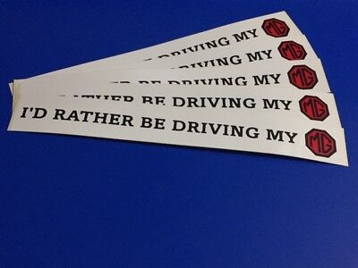 WINDOW STICKER. CAR I/'D RATHER BE WATCHING LEEDS UNITED