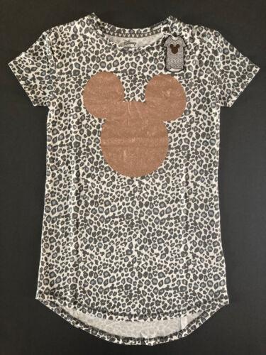 Disney Mickey Mouse Maus Nachthemd Bigshirt Schlafshirt Sleepshirt Leopard XS S