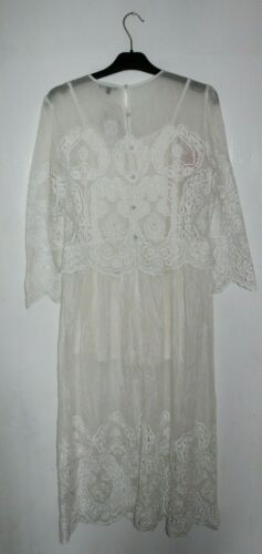 Embroidered Rrp Size 12 Warehouse Premium Midi Ivory Uk Dress 855gHqPw