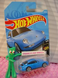 39 96 porsche carrera 155 new blue nightburnerz 2019 i hot wheels ww case m ebay. Black Bedroom Furniture Sets. Home Design Ideas