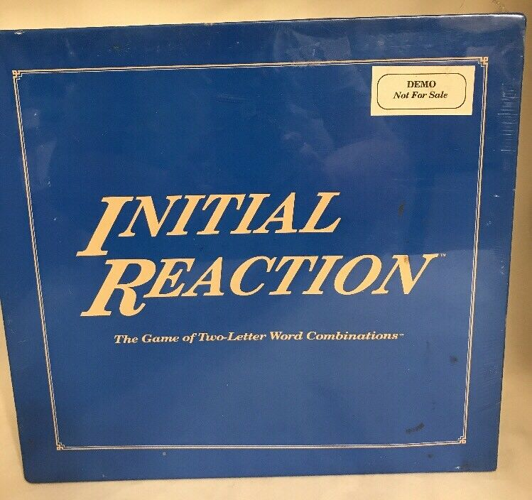 RARE 1980s Board Game INITIAL REACTION word letter DEMO PROTOTYPE SEALED