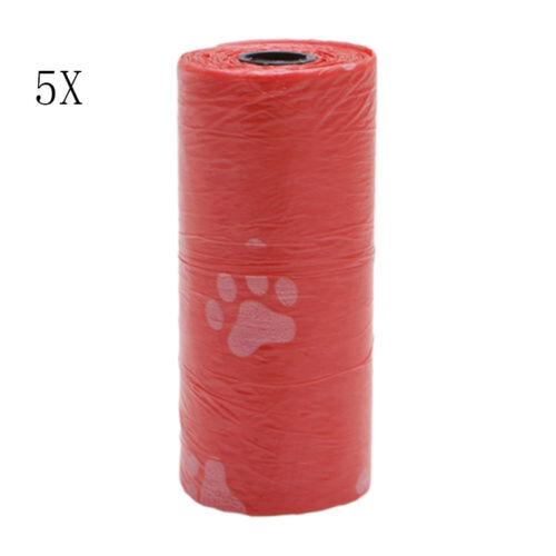 5 Rolls Pet Dog Waste Clean Poop Bags Pick Up Pooper Bags Pet Supplies