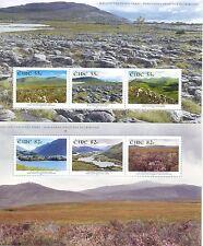 Ireland- National Parks set of 2 min sheet mnh-2011