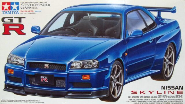 R34 Gtr For Sale >> Tamiya 24210 1 24 Scale Model Sport Car Kit Nissan Skyline Gt R R34 V Spec Bnr34