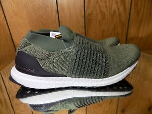 8123b2f93c41c Adidas Ultra Boost Laceless Men s 10 Olive Trace Cargo Shoes CP9252 ...