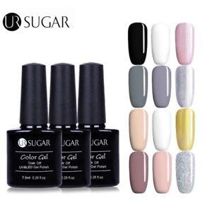 3Bottles-7-5ml-UV-Gel-Nail-Polish-Glitter-Soak-off-Color-Gel-Varnish-UR-SUGAR