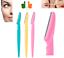 3x-Eyebrow-Razor-Trimmer-Face-Hair-Removal-Stainless-Steel-Scissors-Shaper thumbnail 1