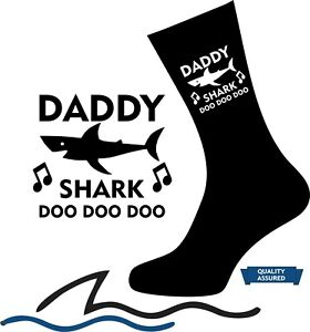 best prices buy good wholesale sales Details about Personalised DADDY SHARK SOCKS Grandad Uncle Mum Auntie  Novelty Birthday gift