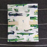 Pottery Barn Kids Alligator Full Sheet Set Green Navy