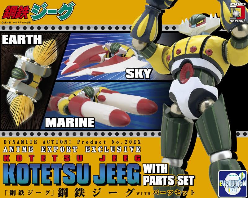 Evolution giocattolo Dynamite azione No.20EX   Kotetsu Jeeg + Option Parts AE Exclusive  marca