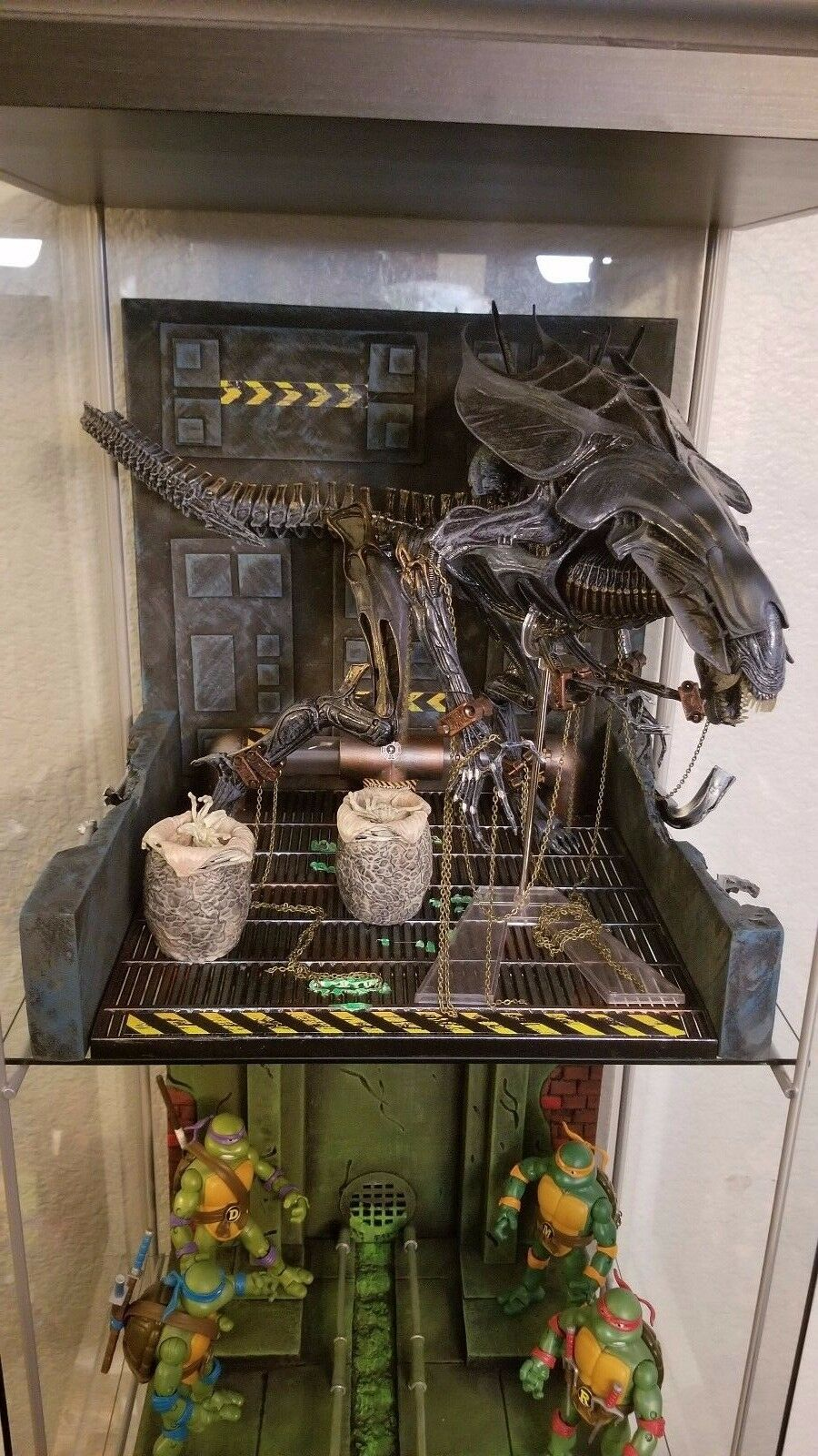 Xenowerx Alien Detolf Detolf Detolf Diorama Stand AVP Predator Neca Xenomorph 3c5912