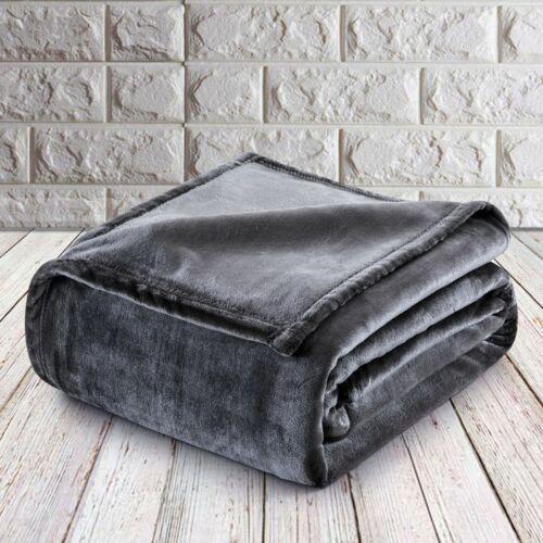 Large Modern Faux Fur Fleece Blanket Soft /& Warm Mink Sofa Bed Travel Throw Over