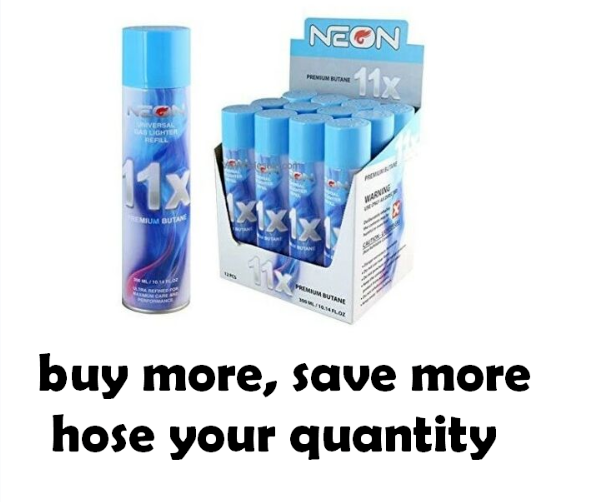 12 Cans Neon 5x Butane Wholesale Case Bulk Gas 5 X Refined 300ml With Lighter For Sale Online Ebay