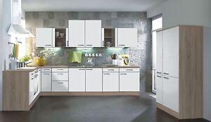 Winkelküche L-Küche KULT Zamora weiß 210 x 350 + 90 cm - ohne Geräte ...