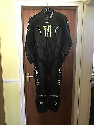 Alpinestars WARG Monster 1 One Piece Black/Green Race Leather Motorcycle Suit 54