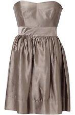 BNWT- Coast - Luchia Dress Size 18 ( 46 Euro) Brown / Metallic Gold, Strapless