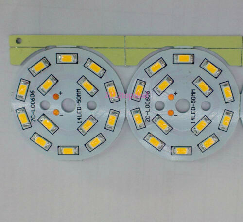 50mm 7W led module warm whtie// cool white 14leds 5630 SMD 21-24VDC 300mA